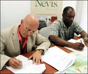 Nevis Signs Agreement With Caribbean Helicopters Ltd