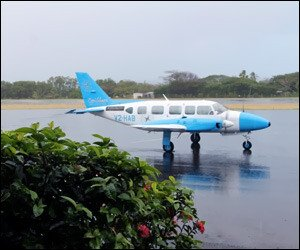Caribbean Helicopters Plane In Nevis
