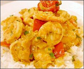 Caribbean Style Shrimp and Banana Curry Recipe