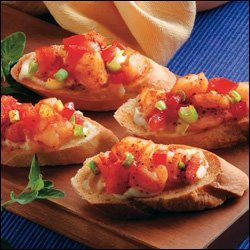 Caribbean Style Shrimp Bruschetta