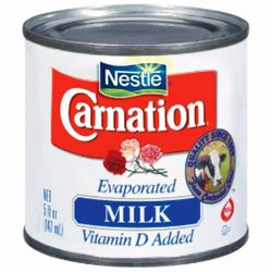 Canned Carnation Evaporated Milk