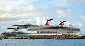 Carnival Cruise Line Ships In St. Kitts