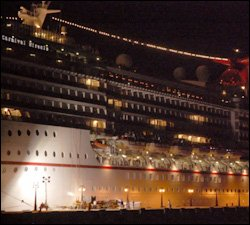 Carnival Miracle Undergoes Repairs In St. Kitts