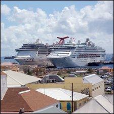 Carnivale Miracle and Sea Princess at Port Zante