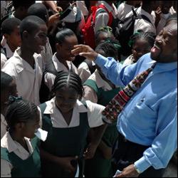 PM Douglas Cayon School Visit 2007