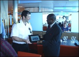 Celebrity Cruise Lines Receives Award From St. Kitts - Nevis