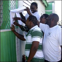 Central Basseterre Residents Check Voter Registration