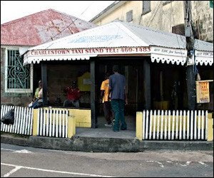 Taxi Stand - Charlestown, Nevis