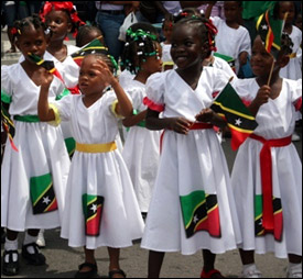 Nevis Students March In Parade
