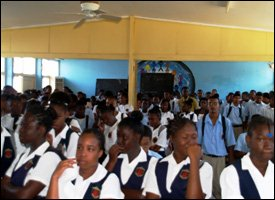 Charlestown Seconday School Students