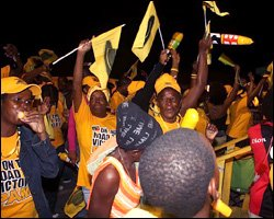 Jubilant Crowd For Cheap Land