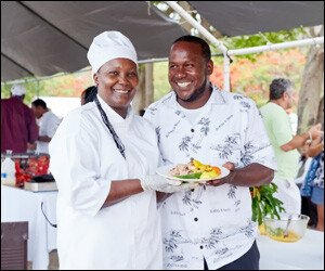 Chef Fredericks Shows Off Mango Dish