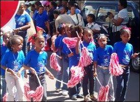 Children Marching In Nevis Parade