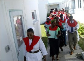 Christmas Carolers Sing At St. Kitts' JNF Hospital