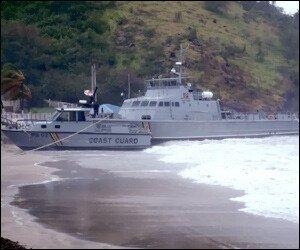 Coast Guard Cutter - The Stalwart - Beached