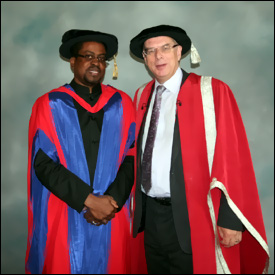 High Commissioner Issac With Vice Chancellor Eastwood