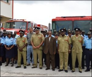 St. Kitts Adds New Fire Fighting Vehicles