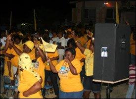 Joyous Fans of PAM In St. Kitts