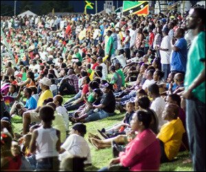 CPL Cricket Fans In St. Kitts - Nevis