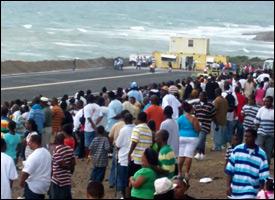 Spectators At Nevis Island's Drag Strip