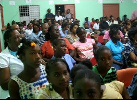 The Crowd Looks On During Quiz Competition