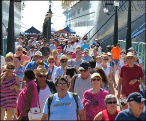 Throngs of Cruise Passengers In St. Kitts