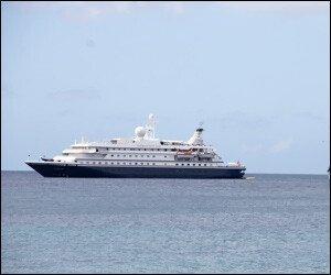 Sea Dream 2 Cruise Ship Off Nevis