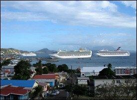 Cruise Ships At Port Zante - St. Kitts