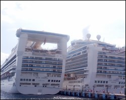Cruise Ships Berthed At Port Zante