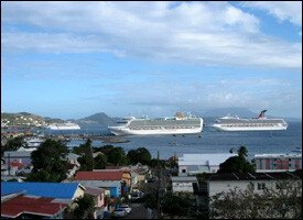 Cruise Ships Docked At Port Zante - St. Kitts