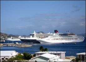 Cruise Ships Docked In St. Kitts - Nevis