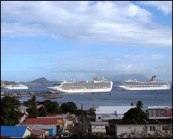 Cruise Ships Berthed In Port Zante