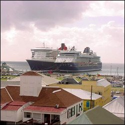 Cruise Ships Berthed At Port Zante - St. Kitts