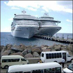 Cruise Ships Docked At Port Zante - St. Kitts - Nevis