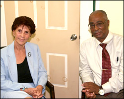 Cuban Ambassador Ana Maria Gonzalez Suarez With Nevis Premier