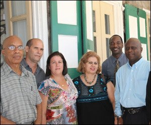 Cuban and Nevisian Health Officials