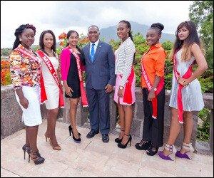 Nevis Culturama Pageant Contestants Visit Nevis Premier