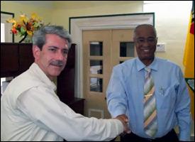Dan Chapman and Premier Parry