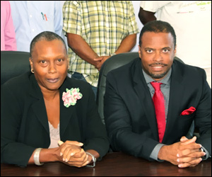 Chairman Deborah Tyrell and Minister Brantley