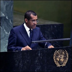 Delano Bart Speaking At The United Nations