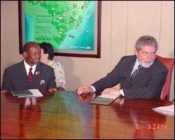PM Douglas With Brazilian President