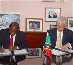 PM Denzil Douglas and Commissioner Philip Kentwell