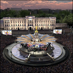 The Stage Is Set For The Diamond Jubilee Concert