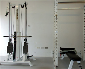 Some Of The Donated Gym Equipment
