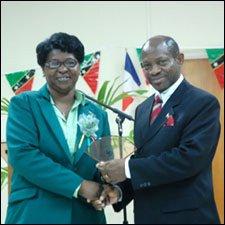 PM Douglas Accepts Award In St. Maarten