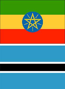 Ethiopia and Botswana Flag