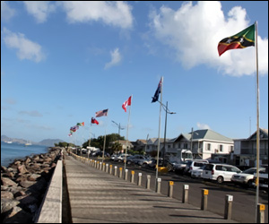 Flags Along Nevis Waterfront