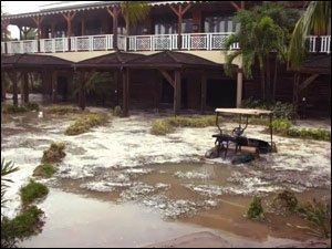 Hurricane Omar Damage To The Four Seasons Resort