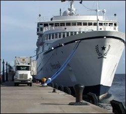 Freewinds Cruise Ship At Port Zante