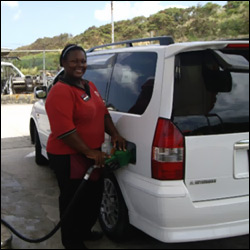 Filling Up With Gas In St. Kitts - Nevis